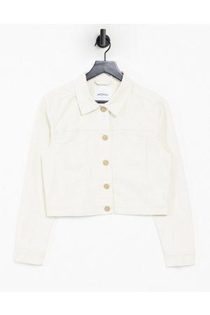 Monki Mirja cotton jacket in beige-Neutral