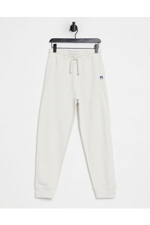 HUGO BOSS Muži Tepláky - X Russell Athletic Jafa logo joggers in stone-Neutral