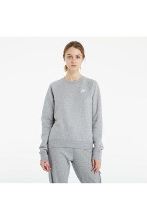 Nike Ženy Trička - Sportswear W Essential Fleece Crew Dk Grey Heather/ White