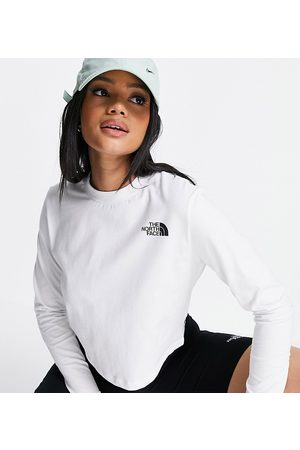 The North Face Ženy S dlouhým rukávem - Cropped long sleeve t-shirt in white Exclusive at ASOS