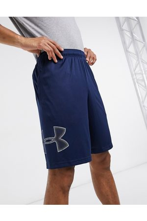 Under Armour Training Tech graphic shorts in navy