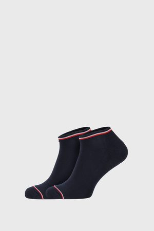 Tommy Hilfiger 2 PACK modrých ponožek Iconic Sneaker