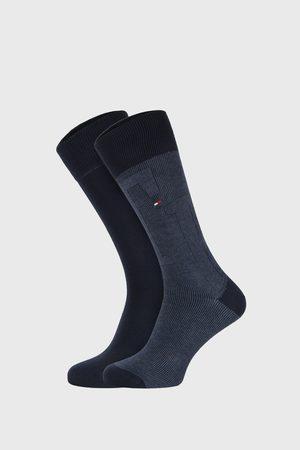 Tommy Hilfiger 2 PACK tmavě modrých ponožek Rib