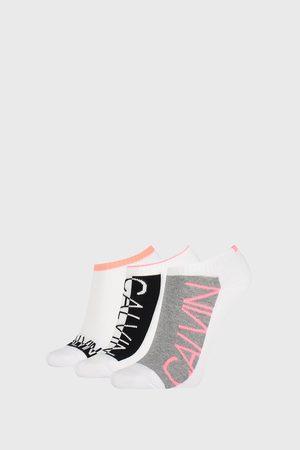 Calvin Klein 3 PACK dámských ponožek Nola bílé