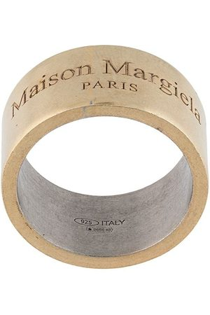 Maison Margiela Engraved-logo detail ring