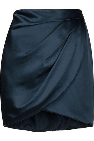 Michelle Mason Draped silk mini skirt