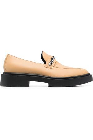 Giuseppe Zanotti Achille Chain calf leather moccasins