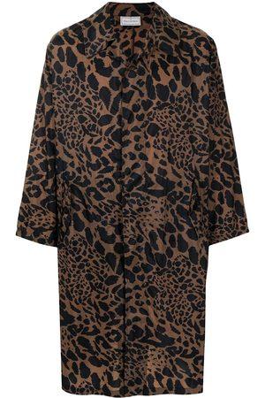 PIERRE-LOUIS MASCIA Leopard-print trench coat
