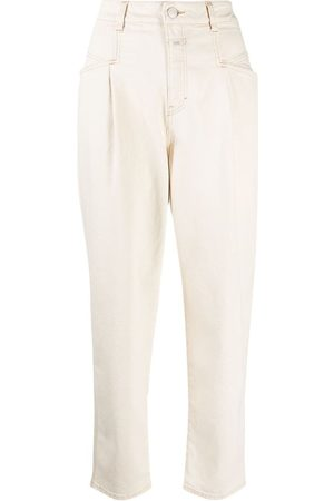 Closed High-waisted tapered trousers