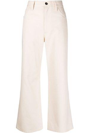 Jil Sander High-waisted bootcut jeans
