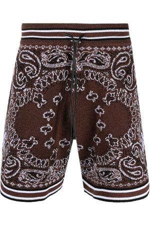 AMIRI B-Ball bandana-print shorts