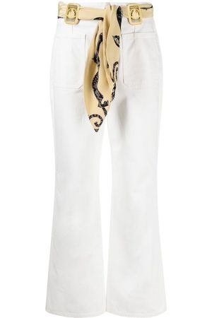 Lanvin Scarf-detail flared jeans