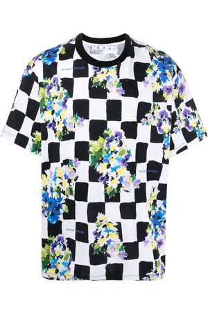 OFF-WHITE Check flower print Over T-shirt
