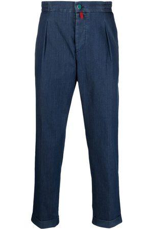 Kiton Elasticated straight-leg trousers