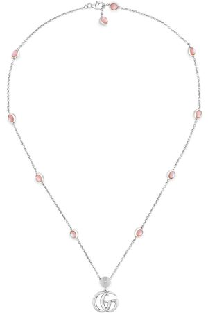 Gucci Double G mother of pearl necklace
