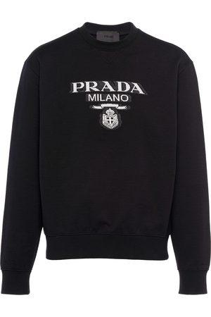 Prada Intarsia-knit logo sweatshirt