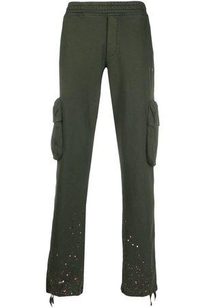 OFF-WHITE Paint splatter track trousers