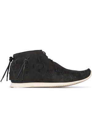 VISVIM Embroidered-motif suede desert boots