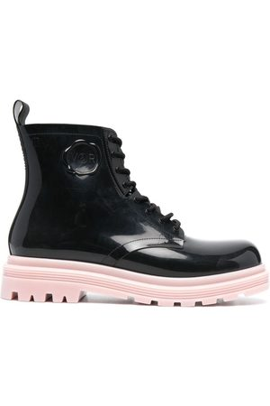 Viktor & Rolf Contrasting sole lace-up boots