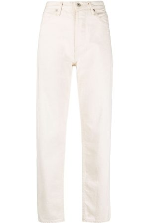 Jil Sander + high-waisted straight-leg jeans