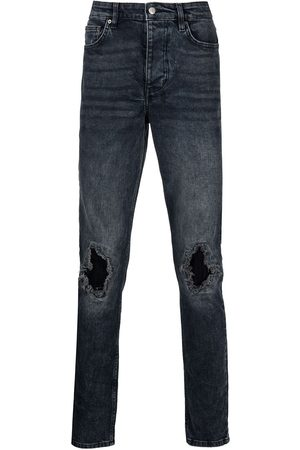 KSUBI Distressed straight-leg jeans