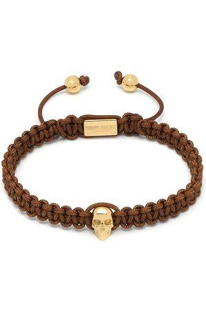 NORTHSKULL Atticus skull macramé bracelet