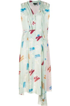 JEJIA Asymmetric graphic-print shirt dress