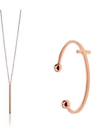 Emily Westwood Neodolatelná bronzová sada šperků WS038R (náhrdelník, náramek)
