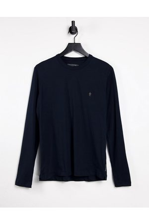 French Connection Long sleeve top with logo in navy-Blue
