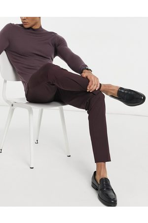 SELECTED Suit trouser in slim fit burgundy-Red