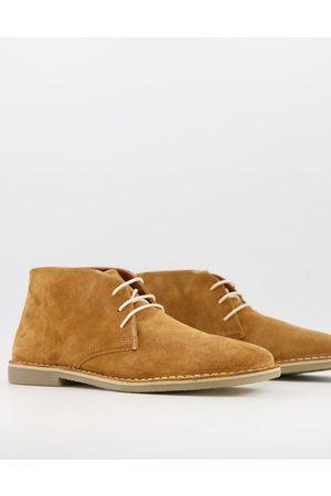 ASOS Muži Šněrovací - Desert boots in tan suede-Brown