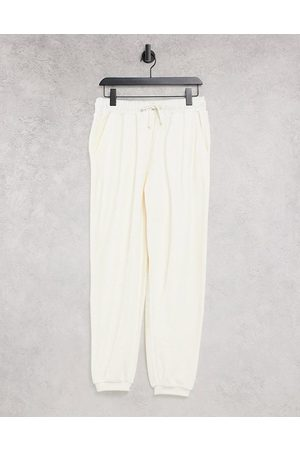 & OTHER STORIES Organic cotton co-ord joggers in cream-White