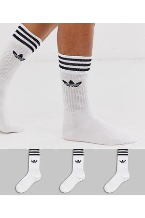 adidas Originals Muži Ponožky - Trefoil 3 pack crew socks in white