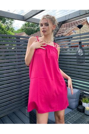 Vero Moda Tie shoulder cami dress in pink