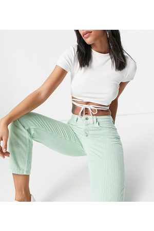 Reclaimed Vintage Inspired the 91 original mom jean in mint cord-Green