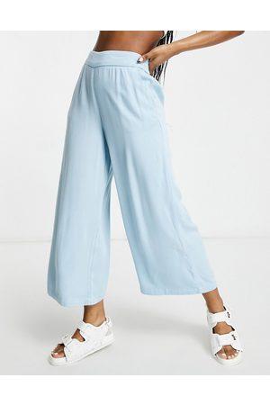 Vila Ženy Culottes - Chambray culottes in blue