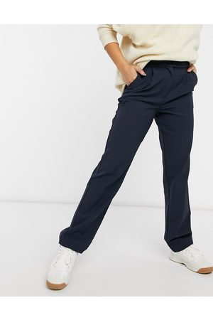 Y.A.S Tailored wide leg trousers in navy