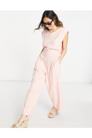 Free People Ženy Overaly dlouhé - Heat wave relaxed jumpsuit in grapefruit-Pink