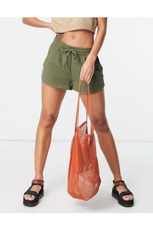 ONLY Ženy Kraťasy - Turner woven runner style shorts in green