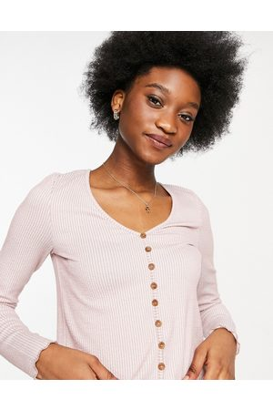 Pieces Mette long sleeve cropped cardigan in pink