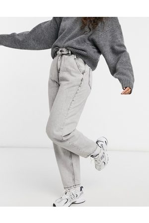 Noisy May Slouchy jeans in grey acid wash