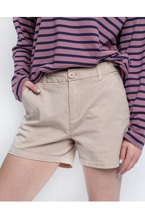 Knowledge Cotton Apparal Willow Chino Shorts 1228 Light feather gray 34