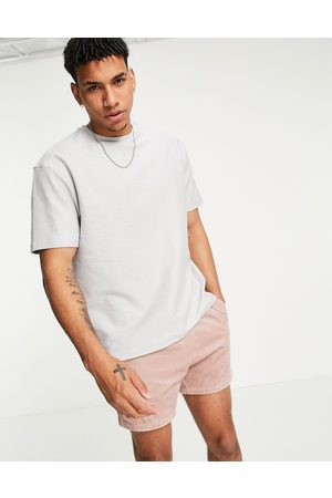 Another Influence Towelling t-shirt co-ord in lavender grey