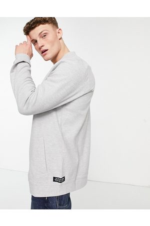 TOM TAILOR Jersey bomber jacket in grey