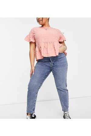 ONLY Josie slim leg jeans with high rise in medium blue
