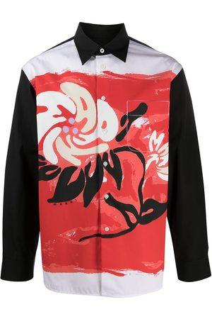 Marni Printed long-sleeved shirt