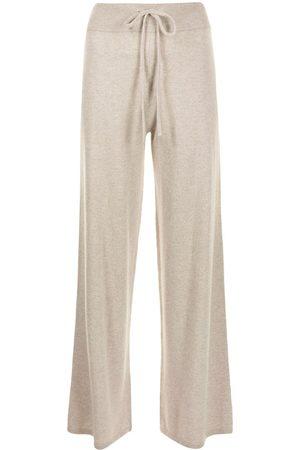 Lisa Yang Ženy Široké nohavice - Drawstring wide-leg cashmere trousers