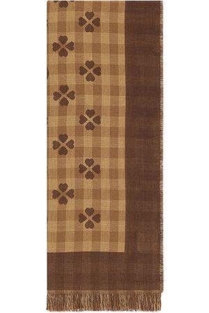 Gucci Fringed cotton-jacquard scarf