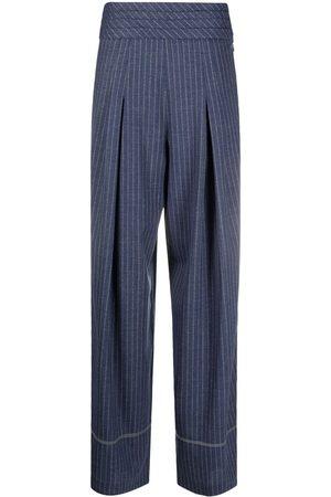 KOCHÉ Ženy Široké nohavice - Flared pinstripe trousers