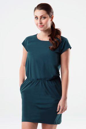 LOAP Ženy Šaty - Dámské zelenomodré šaty Umbria